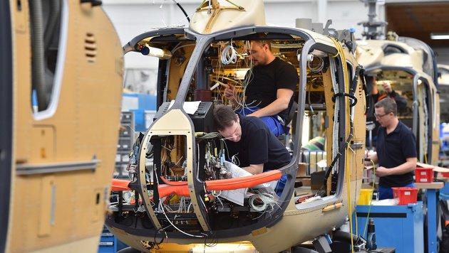 Rund 45 Tage dauert die Produktion eines solchen Hubschraubers. (Bild: Patrick Huber)