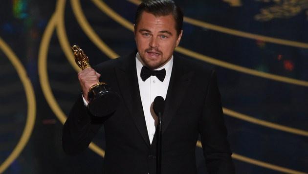 """Leonardo DiCaprio wurde als bester Hauptdarsteller für seine Rolle in """"The Revenant"""" ausgezeichnet. (Bild: APA/AFP/MARK RALSTON)"""