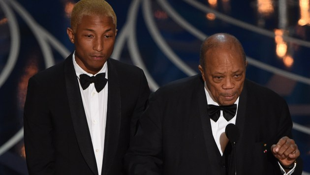 Pharrell Williams und Quincy Jones (Bild: APA/AFP/MARK RALSTON)