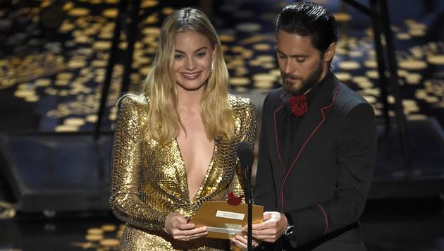 Margot Robbie und Jared Leto (Bild: Chris Pizzello/Invision/AP)