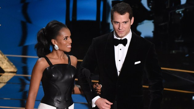 Kerry Washington und Henry Cavill (Bild: APA/AFP/MARK RALSTON)