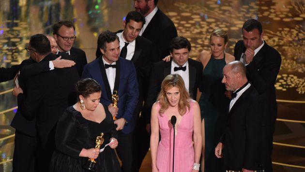 """Der Film """"Spotlight"""" wurde zum besten Film gekürt. (Bild: APA/AFP/MARK RALSTON)"""