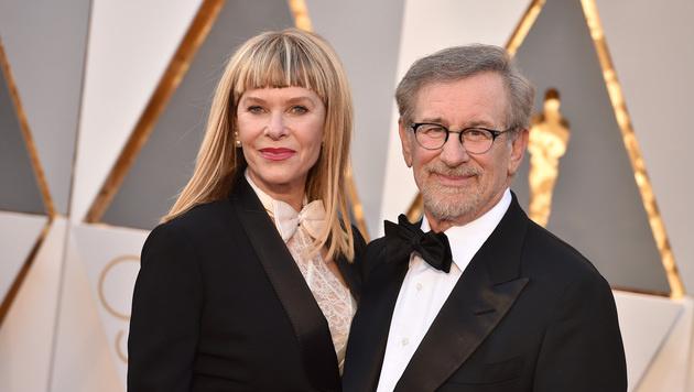 Steven Spielberg und Kate Capshaw (Bild: Jordan Strauss/Invision/AP)
