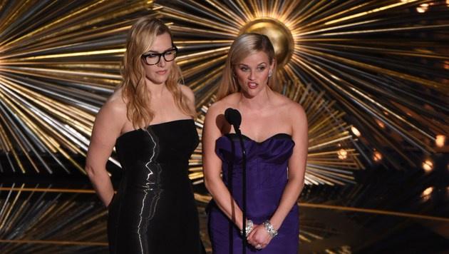 Kate Winslet und Reese Witherspoon (Bild: APA/AFP/MARK RALSTON)