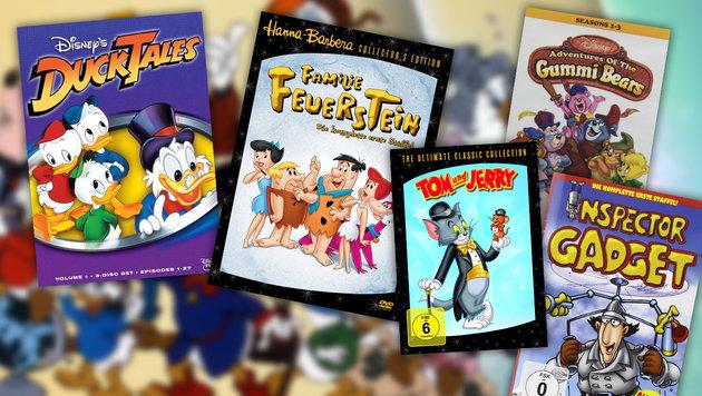 Diese Zeichentrick-Songs sorgen für gute Laune! (Bild: Disney, Warner Bros., Warner Home Video)