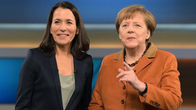 Merkel zu Gast bei Anne Will (Bild: APA/dpa/Rainer Jensen)