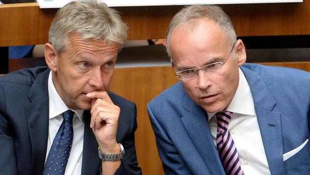 """ÖVP-Klubchef Lopatka musste sich für Franz"""" Aussagen entschuldigen. Dieser verließ nun die Partei. (Bild: APA/ROLAND SCHLAGER)"""