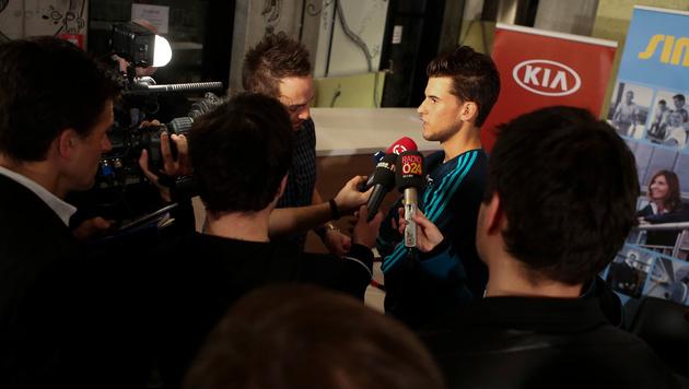 Großer Medienandrang herrschte bei Dominic Thiems Heimkehr aus Südamerika. (Bild: GEPA)