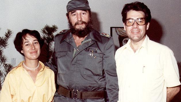 Heinz und Margit Fischer waren 1980 im Auftrag des damaligen Kanzlers Kreisky bei Fidel Castro. (Bild: privat)