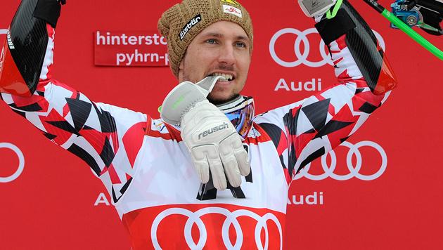 Marcel Hirscher ist 7,2 (!) Millionen Euro wert (Bild: APA/AFP/SAMUEL KUBANI)