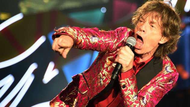 Rolling-Stones-Sänger Mick Jagger während eines Konzerts der aktuellen Tour (Bild: APA/AFP/VANDERLEI ALMEIDA)