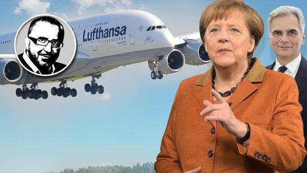 Wenn Merkel will, kann sie alle Asylwerber haben (Bild: APA/AFP/dpa/JENSEN, APA/JAEGER, APA/BUNDESHEER/KARLOVITS)