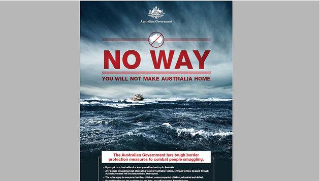 """Auch die australische Regierung startete k�rzliche eine Plakatkampagne. (Bild: """"Krone"""")"""