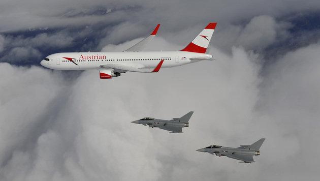 Die Fotos: So lief die Abfangjagd der Eurofighter (Bild: Bundesheer)
