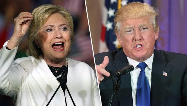 """Clinton und Trump siegen auch am """"Super Tuesday"""" (Bild: AFP, AP)"""