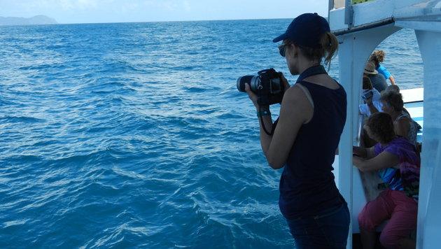 Saskia Kißler hilft bei den Whale-Watching-Touren tatkräftig mit. (Bild: zVg)