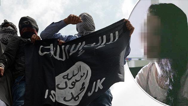 IS-Terrorhelferin (18) ist Job im Kindergarten los (Bild: AFP, krone.tv)