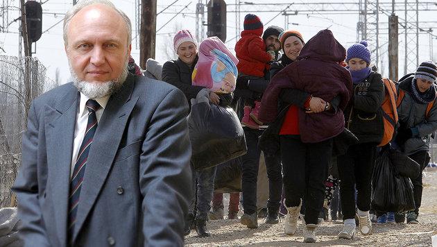 """""""Jeder Fl�chtling kostet uns mehr als 450.000 �"""" (Bild: AP, Ifo-Institut M�nchen)"""