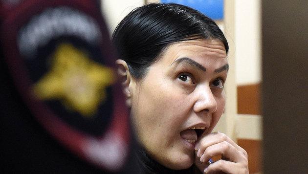 Gjultschechra B. während eines Anhörungstermins vor Gericht (Bild: APA/AFP/VASILY MAXIMOV)