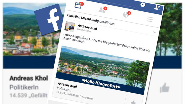 Peinlich: Khol verwechselt Klagenfurt mit Velden (Bild: facebook.com/Andreas Khol)