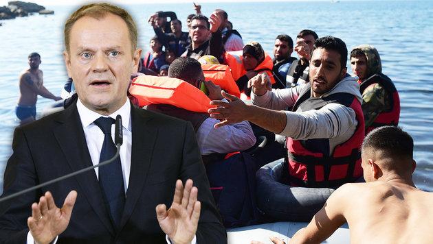 """EU-Ratspräsident: """"Kommen Sie nicht nach Europa"""" (Bild: AFP, APA/HANS KLAUS TECHT)"""