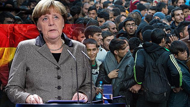 "Merkel: ""Monatlich kehren 3000 Iraker wieder heim"" (Bild: AP, dpa/Sebastian Kahnert, thinkstockphotos.de)"