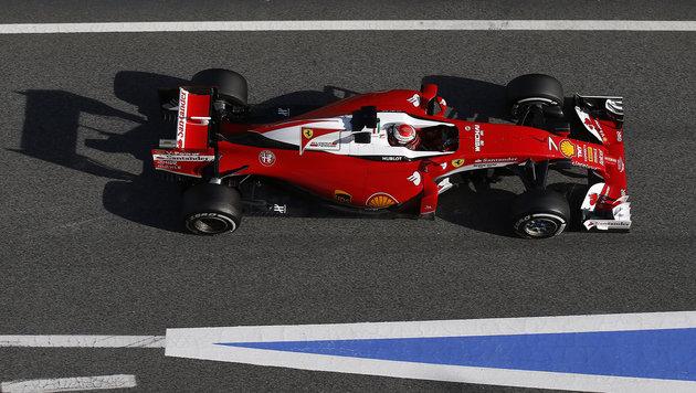 Räikkönen nach Halo-Probefahrt Testschnellster (Bild: AP)