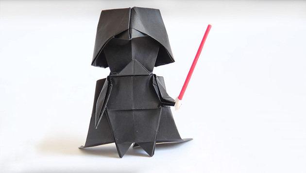 """Darth Vader aus Origami: So geht's! (Bild: boredpanda.com)"""