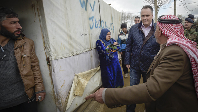 """Doskozil: """"Die Hilfsgelder müssen endlich fließen"""" (Bild: APA/Bundesheer/Pusch)"""