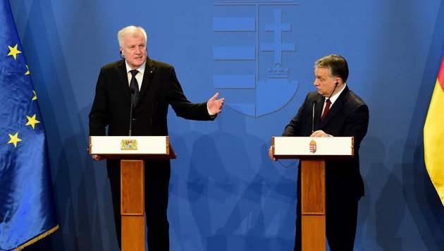 Horst Seehofer (links) zu Besuch bei Viktor Orban (Bild: AFP or licensors)