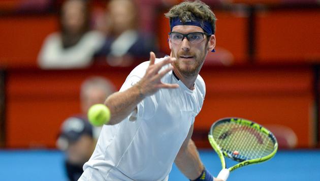 Gerald Melzer eröffnet Davis Cup gegen Sousa (Bild: APA/HERBERT NEUBAUER)