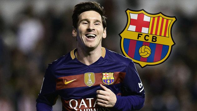 Messi-Triplepack bei Barcas Sieg gegen neun Mann (Bild: AFP)