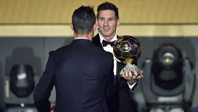 Muss Cristiano Ronaldo am Ende wieder Lionel Messi gratulieren, oder schlägt Suarez zu? (Bild: AFP)