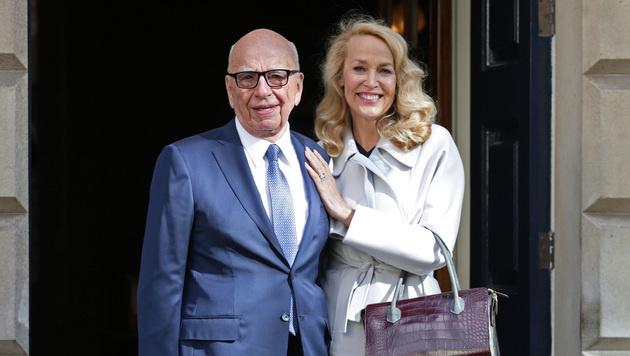 Rupert Murdoch und Jerry Hall haben geheiratet. (Bild: AP)