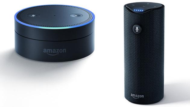 Smarte Lautsprecher werden zum Milliardengeschäft (Bild: Amazon, krone.at-Grafik)