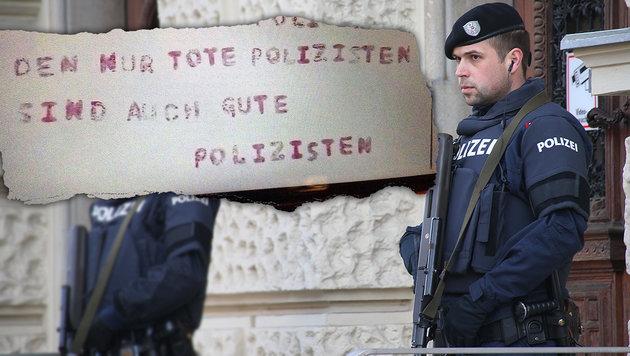 """Die Behörden erhielten Todesdrohungen gegen Polizisten. (Bild: Jürgen Radspieler, """"Krone"""")"""