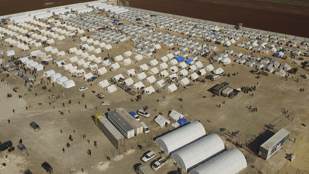 Flüchtlingslager im Norden Syriens (Bild: AP)
