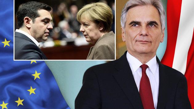 Kanzler: Österreich wird keinem Druck weichen (Bild: thinkstockphotos.de, AFP)