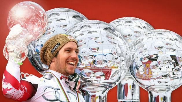 Marcel Hirscher zum 5. Mal Gesamtweltcup-Sieger (Bild: GEPA)