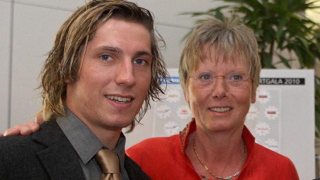 Marcel Hirscher und Annemarie Moser-Pröll im Jahr 2010 (Bild: GEPA)
