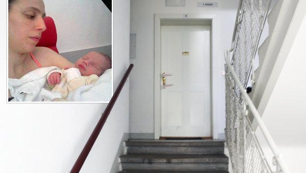 """In dieser Wohnung fand die Polizei die Leichen von Mutter Kristina M. und ihrem Baby. (Bild: """"Krone"""", Zwefo)"""