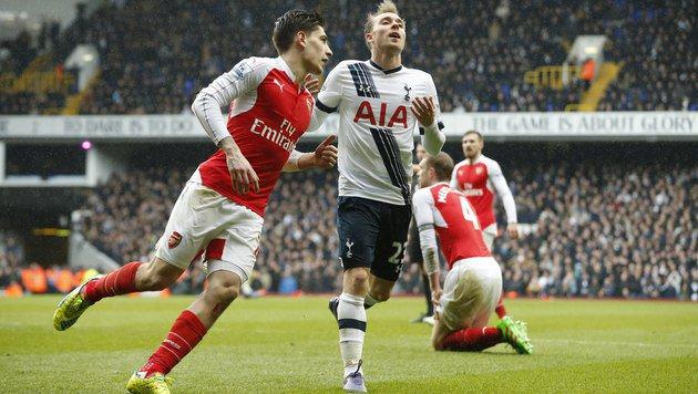 Packendes Remis zwischen Tottenham und Arsenal (Bild: AP)