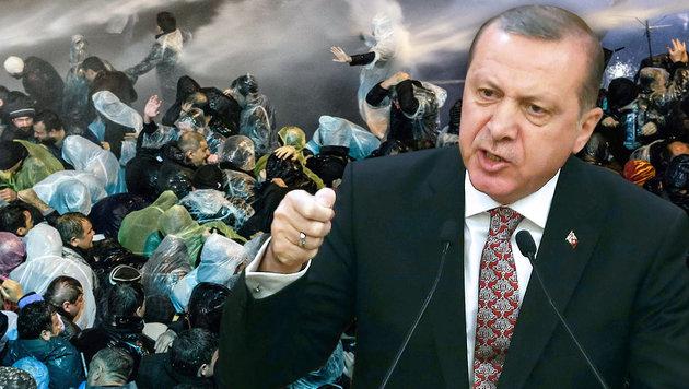 So bringt Erdogan seine Kritiker zum Schweigen (Bild: APA/AFP/OZAN KOSE, APA/AFP/ADEM ALTAN)