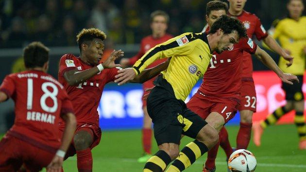 Video: Dortmund-Angriff abgewehrt, Bayern souverän (Bild: APA/AFP/PATRIK STOLLARZ)