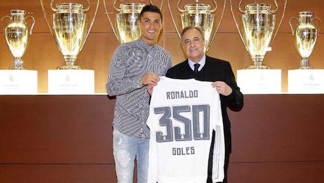 335 Spiele, 350 Tore: Kein anderer Spieler in Europa schoss so schnell so viele Tore für einen Klub. (Bild: twitter.com/cristiano)