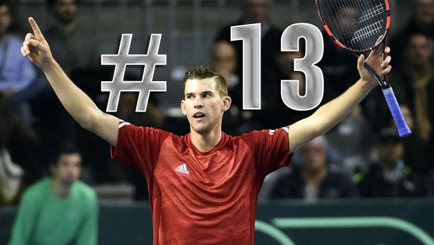 Thiem ist die neue Nummer 13 der Tennis-Welt! (Bild: APA/HELMUT FOHRINGER)
