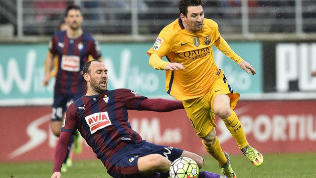 Zwei Messi-Treffer  beim nächsten Barca-Coup: 4:0 (Bild: AP)