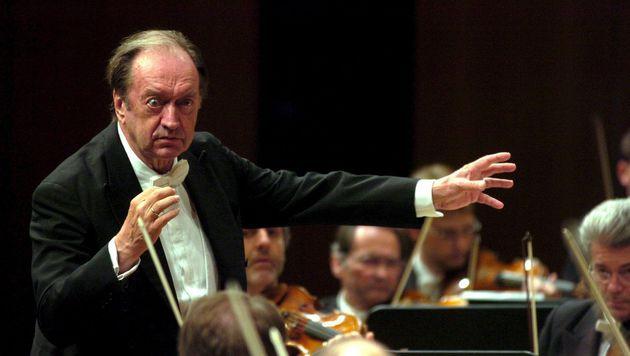 Nikolaus Harnoncourt beim Festival von Luzern (Bild: Sigi Tischler/EPA/picturedesk.com)