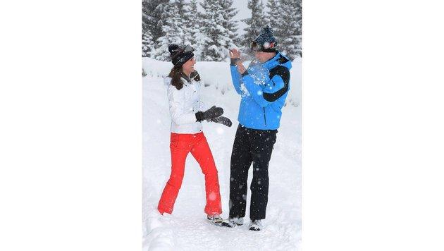 Prinz William und Herzogin Kate wirken sehr verliebt. (Bild: AP)