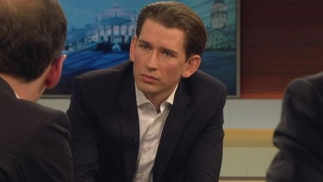 """Außenminister Sebastian Kurz zu Gast bei """"Anne Will"""" (Bild: ARD)"""